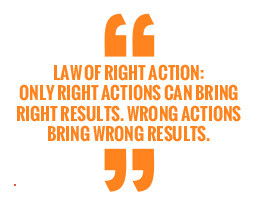 quote law of right action