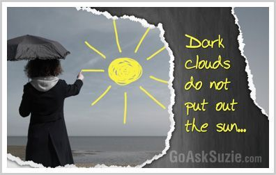 dark clouds do not put out the rain