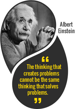 same thinking that creates-problems does not solve them Einstein quote