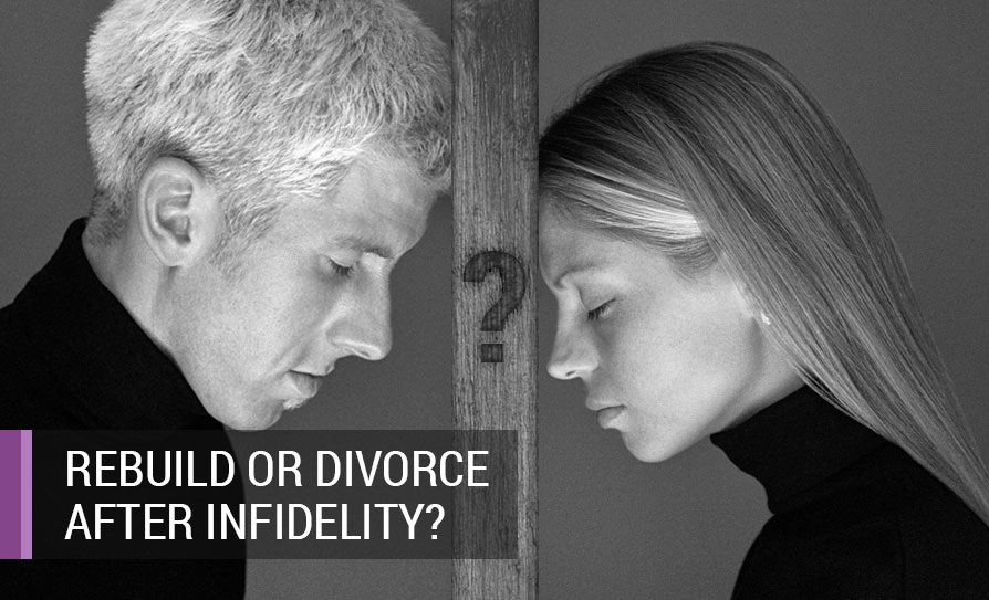 Should We Rebuild or Divorce After an Affair? Image of Couple