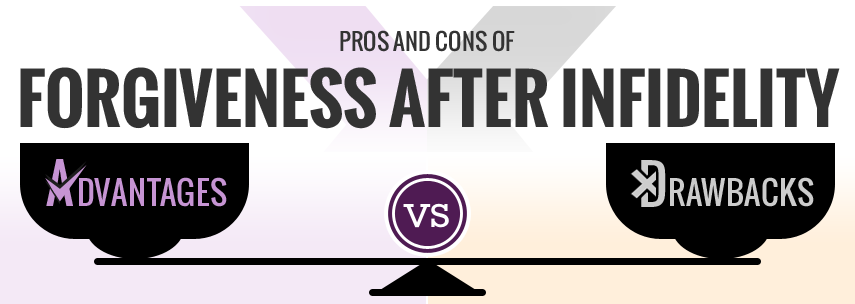 Pros and cons of Forgiveness After Infidelity.