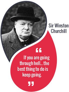 Going Through Hell Winston Churchill Quote Compressor